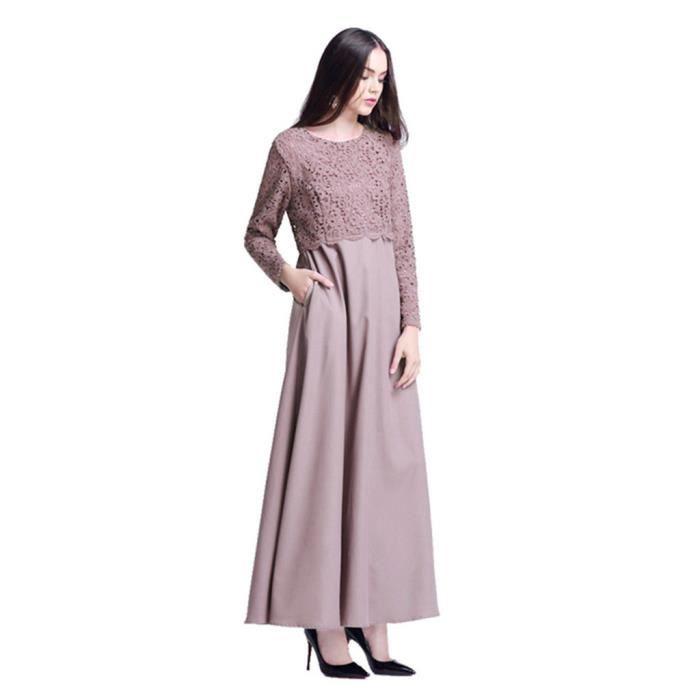 Kaftan Maxi Islam Robe Dubai Abaya Violet Musulman Patchwork Ethnique Long Femmes 8WSwn5qZP