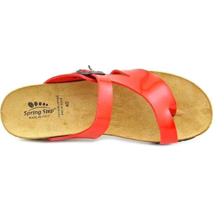 Step Cuir Rauna Sandales Compensés Spring SW61n6