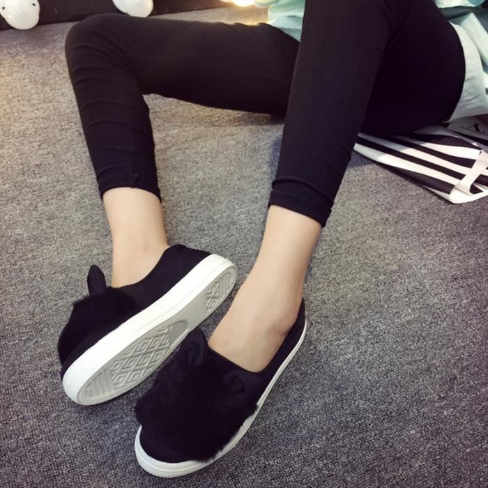 Femmes xz060noir37 Bxfp Chaussures Hiver Plate 8nCxqX