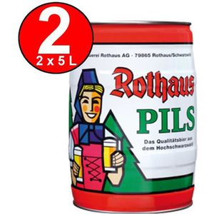 BIÈRE 2 x Fut de biere Rothaus Pils 5 L 5.1 % Vol. party