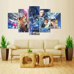 TABLEAU - TOILE Toiles imprimées 5 pieces Movie Star Wars pictures