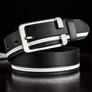 CEINTURE ET BOUCLE Nouvelle ceinture à boucle hommes en cuir décontra ... fbc0199ac98