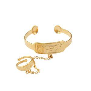 BRACELET - GOURMETTE Bracelet pour bébé Or jaune 18k plaqué Cadeau bijo