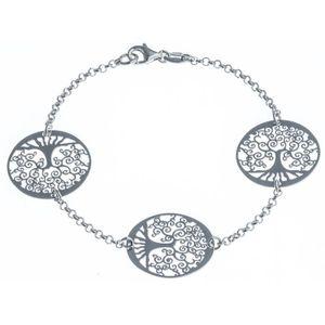 BRACELET - GOURMETTE Bracelet l'arbre de vie en Argent fin 925/1000 18,