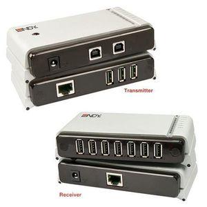 HUB Extendeur USB 2.0 sur RJ45 jusqu'à 60m avec HUB US