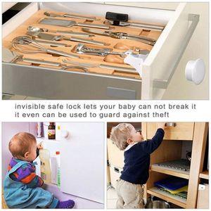 BLOQUE TIROIR Bébé Magnétiques Placard Serrures de Enfant Sécuri