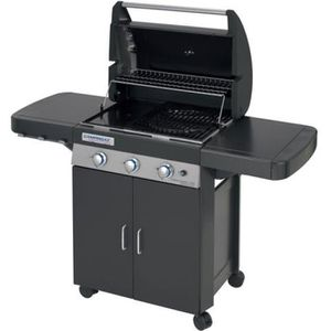 BARBECUE Barbecue gaz 3 brûleurs grill-plancha-four chariot