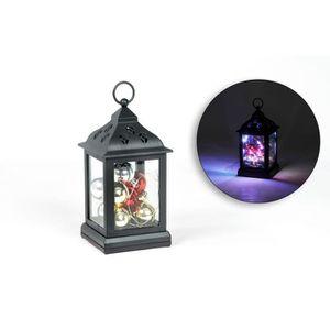 LANTERNE FANTAISIE Lanterne noire 9 boules avec guirlande 12 LED en A
