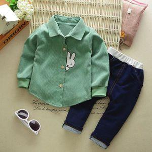 Ensemble de vêtements Infantile Bébé Garçons Solide Lapin de Bande Dessi