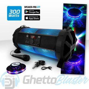 ENCEINTE ET RETOUR Enceinte Sono Mobile LED RVB 300W - USB-BT-RADIO +