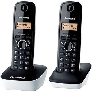 Téléphone fixe Panasonic KX-TG1612FRW Duo Téléphone Sans Fil Sans