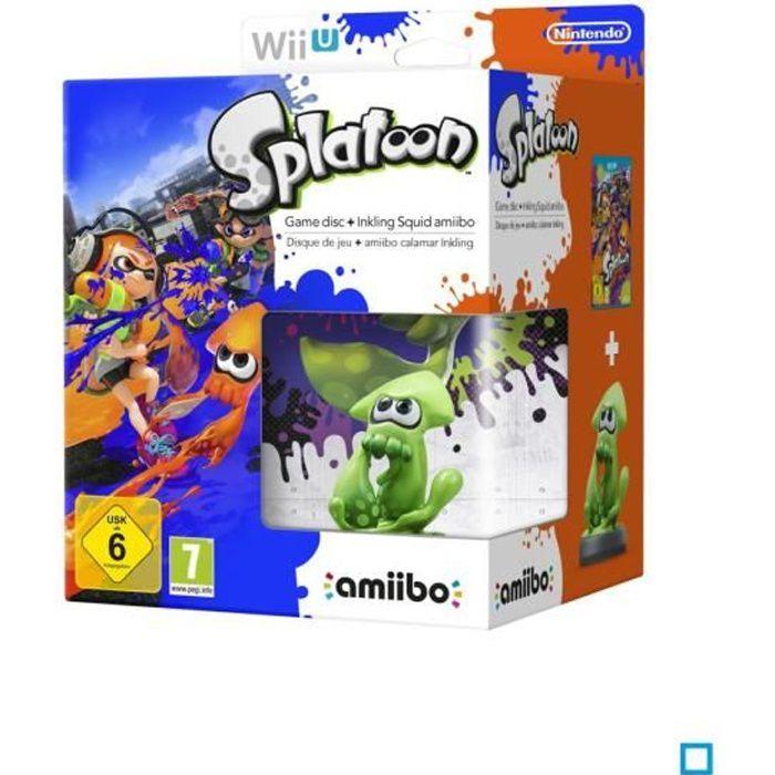 JEU WII U Splatoon Jeu Wii U + Amiibo Squid