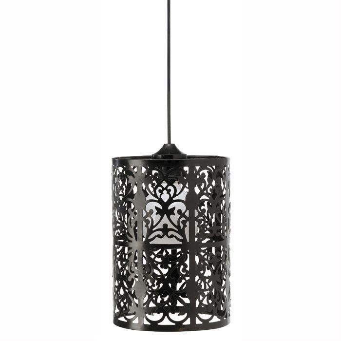 TANGER Lustre - suspension noire Ø19cm. Hauteur 25 cm