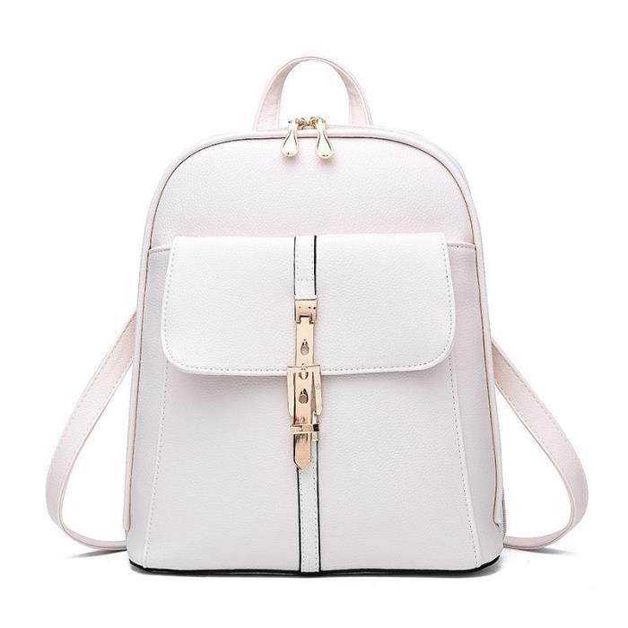 la moitié cc72e f2ba1 sac à dos femme sac femme sac à dos de marque sac à dos femme sac luxe  femme cuir qualité supérieure sac à dos blanc 2017 Nouvelle