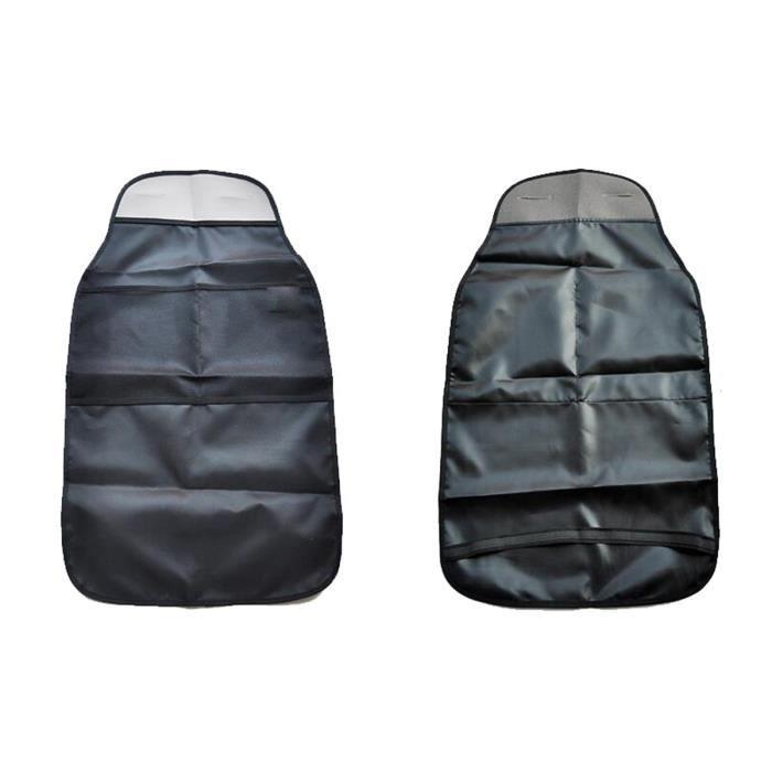 NICERIO Siège de voiture Protecteurs de dos Housses de siège Banquette arrière Organisateur Kick Guard Seat Saver (Noir)