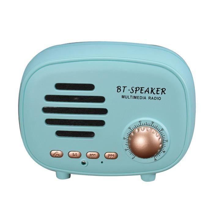 Thanksgi® Q108 Portable Rétro Parleur Sans Fil Bluetooth De Son Stéréo Caisson Graves Bu_2033