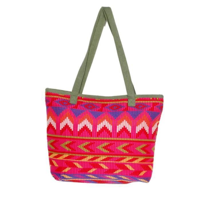 Womens Handmade Ethnic Self Design Jacquard Sling-cross Body Bag FEA4C