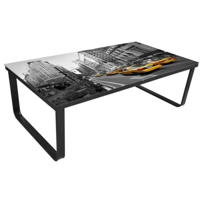 table basse new york en verre achat vente table basse table basse new york en verre cdiscount. Black Bedroom Furniture Sets. Home Design Ideas