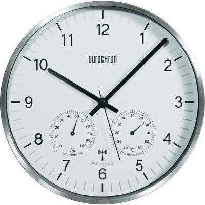 horloge murale blanche alu radiopilot e thermo achat vente horloge pendule alu cdiscount. Black Bedroom Furniture Sets. Home Design Ideas