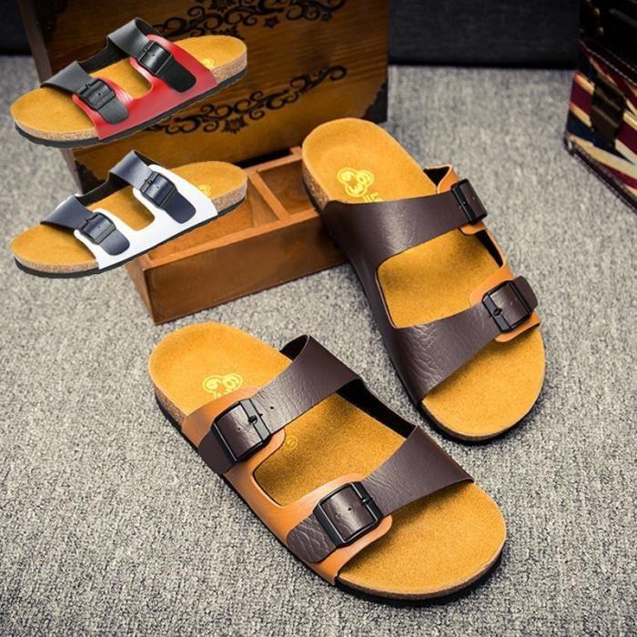 Classique British 29260 pour hommes Chaussons cuir Chaussures 41 en blanc Tide Chaussons Hommebleu pour ZIHOgY