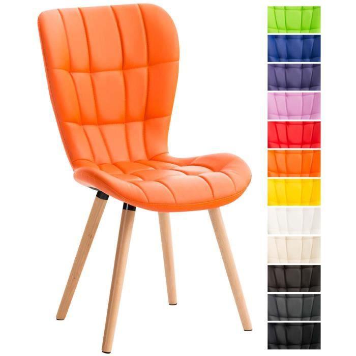 chaises orange achat vente chaises orange pas cher cdiscount. Black Bedroom Furniture Sets. Home Design Ideas