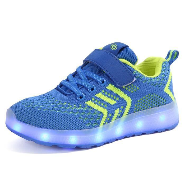 Chaussures enfants lumières LED Baskets fille garçon Clignotant lumineux chaussures de sport 7 couleurs taille 25-37 hoNb2r7D