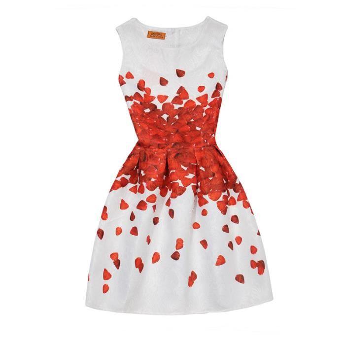b33e2cde99381 Filles robe d été nouvelle mère et fille modèles imprimés Une jupe de mot  Dress