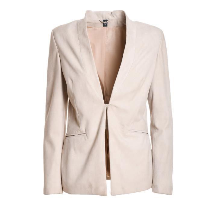 Cuir 980pl0074pel2300900 Blazer Blanc Eleventy Femme wq6YvxZSa