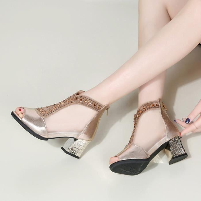 d1224032515299 Chaussure femme doree - Achat / Vente pas cher