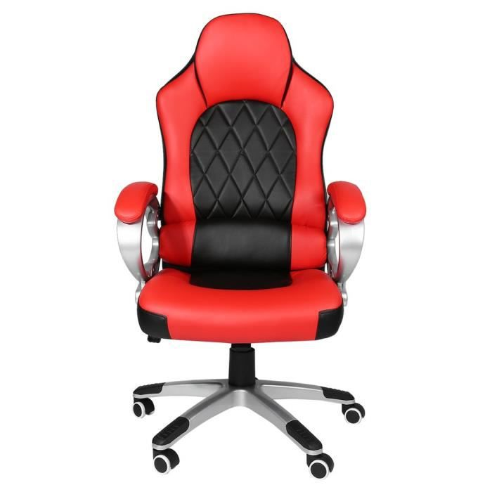 Meilleure Chaise De Gaming Fauteuil Gamer Bureau 360 Degree Rotation Rouge Et Noir