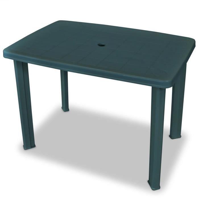 Table de jardin Table de camping 101 x 68 x 72 cm Plastique Vert