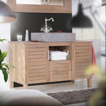 meuble salle de bain en teck soho duo - achat / vente armoire de ... - Porte De Placard Salle De Bain
