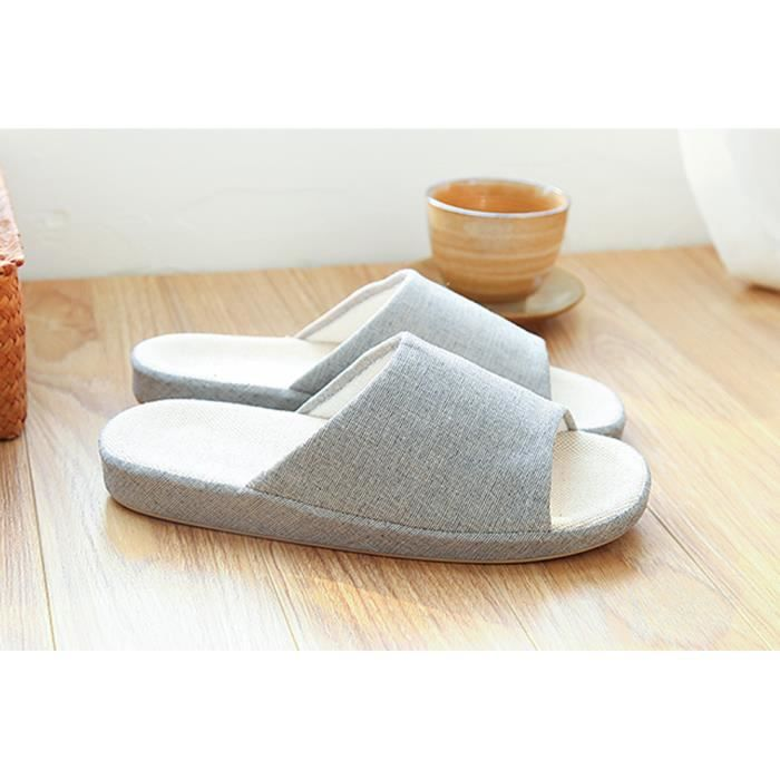(Made By Flax) Skidproof Le Style Simple De Pantoufles(Gris) zpFDr