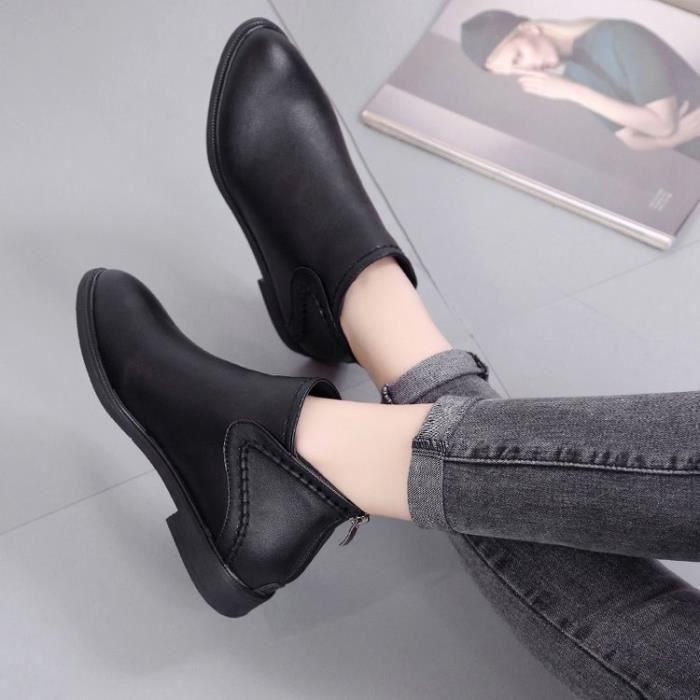 de bottes 2017 Martin style de 39; Automne chaussures de fermeture hiver femmes en amp; nouvelles femmes anglais bottes éclair 57qqEZw