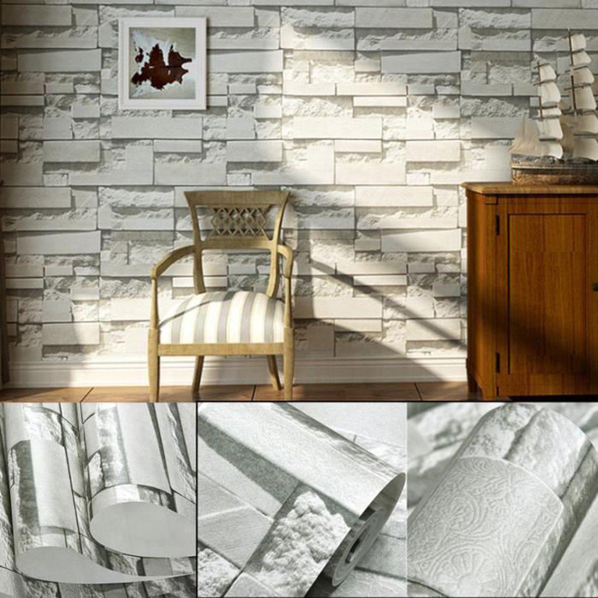 0 53x10m 3d Brique Papier Peint Fond Tv Mur Wallpaper Decor Salon