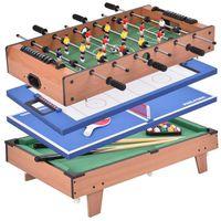 TABLE MULTI-JEUX Table multi-jeux 4 en 1 Baby-foot Tennis de table