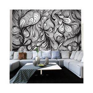papier peint intisse noir et blanc achat vente papier peint intisse noir et blanc pas cher. Black Bedroom Furniture Sets. Home Design Ideas