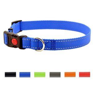 COLLIER collier réglable pour chien, couleur unie classiqu