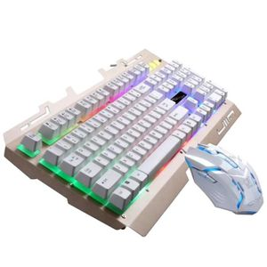 CLAVIER D'ORDINATEUR Cool LED rétro-éclairé USB ergonomique de jeu clav