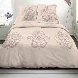 housse de couette beige achat vente housse de couette beige pas cher cdiscount. Black Bedroom Furniture Sets. Home Design Ideas