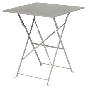 MANGE-DEBOUT Boléro carré gris Pavement style Table acier