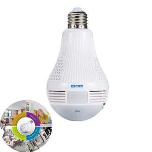Ampoule sans fil IP caméra Wi-Fi 1080p 360 degré V380 mini CCTV VR