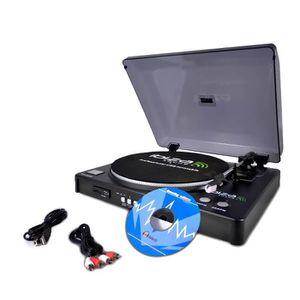 PLATINE VINYLE Platine vinyle USB-SD avec fonction enregistrement