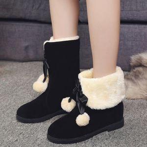 Bottes de neige poils hiver bottes de cheville chaussures femme bottes de mode SgqgvlV