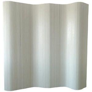 PARAVENT Paravent bambou blanc, 200 x 250 cm