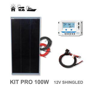 KIT PHOTOVOLTAIQUE Kit 100W PRO 12V panneau solaire