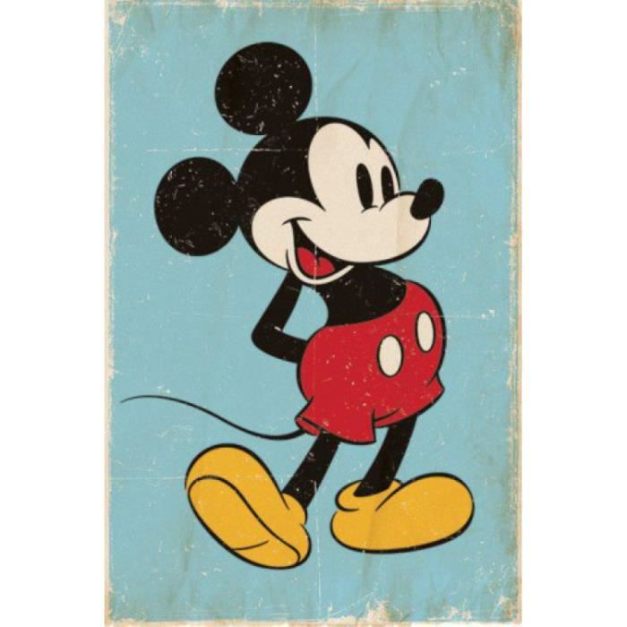 mickey mouse posters achat vente mickey mouse posters pas cher cdiscount. Black Bedroom Furniture Sets. Home Design Ideas