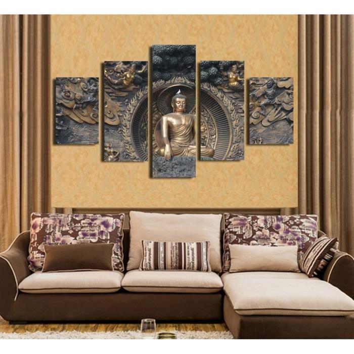 5 Pcs Bouddha Statue Décoration Bouddhiste Maison Paysage Art