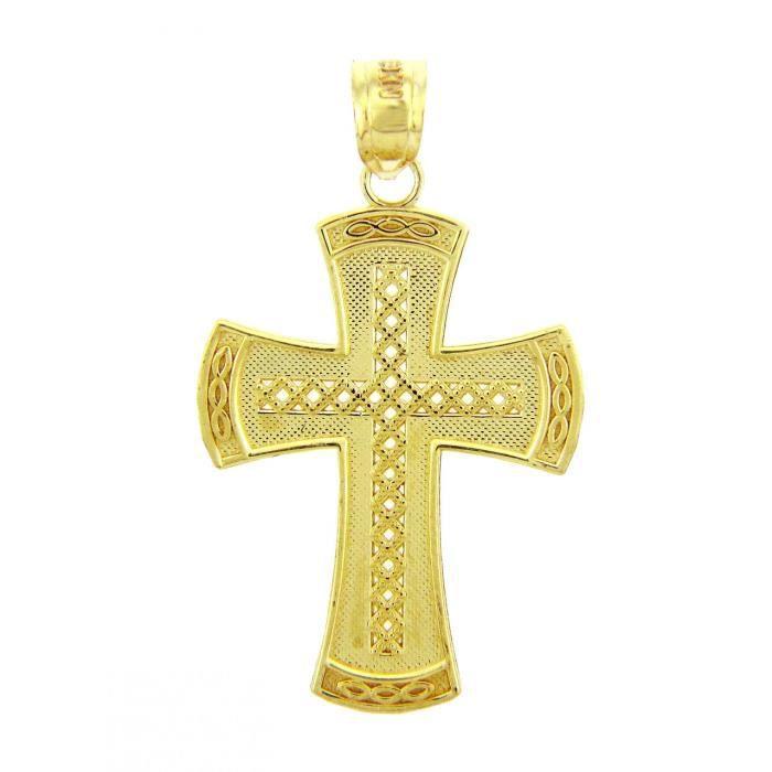 Collier Pendentif10 ct Or Jaune 471/1000 Croixsymbole Croix Collier Pendentif(vient avec une Chaîne de 45 cm)