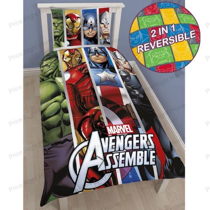 Parure de lit Avengers Team   Achat / Vente housse de couette